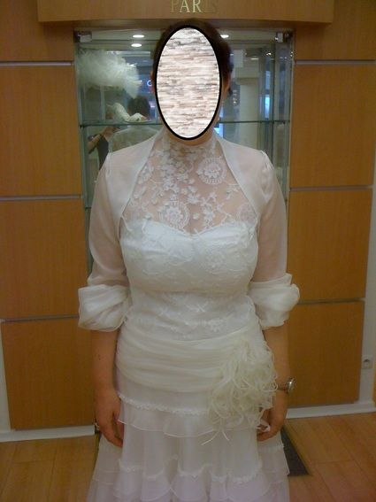 Boléro de mariée Tourbillon Cymbeline 100% soie