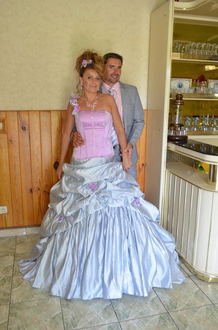 Robe de mariée de créateur à Paris à lacet taffeta - Occasion du Mariage