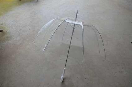 Parapluie transparent pour mariage
