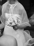 Etole de mariée Suzanne Erman  en tulle et volutes de satin - Occasion du Mariage