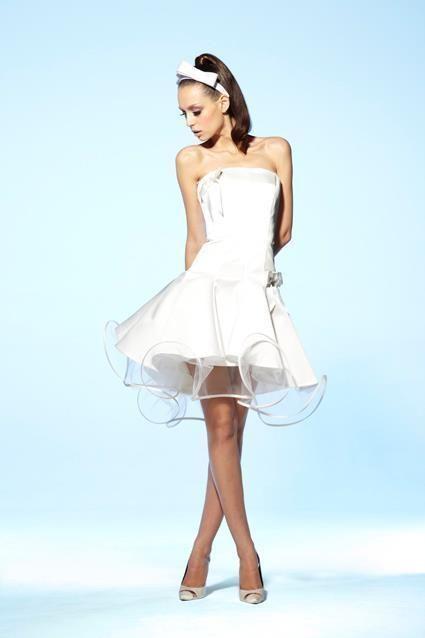 Robe de mariée modèle Citadine collection Suzanne Ermann + boléro