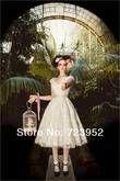 Robe de mariée vintage courte en dentelle