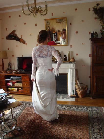Robe de mariée d'occasion forme sirène avec petite traîne