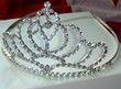Diadème de mariée original en cristal en accessoire de mariage