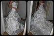 Robe de mariée blanche haut du bustier perlé - Occasion du Mariage
