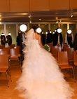 Sublime robe de mariée froufrou avec voile et jupon pas cher en 2013