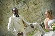 Costume ivoire queue de pie moderne avec gilet - Occasion du Mariage