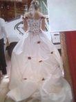 Robe de mariée écru et bordeaux - Occasion du Mariage