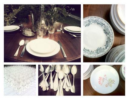 Location de vaisselle vintage pour votre mariage