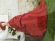 Robe de mariée soie bordeaux - Occasion du Mariage