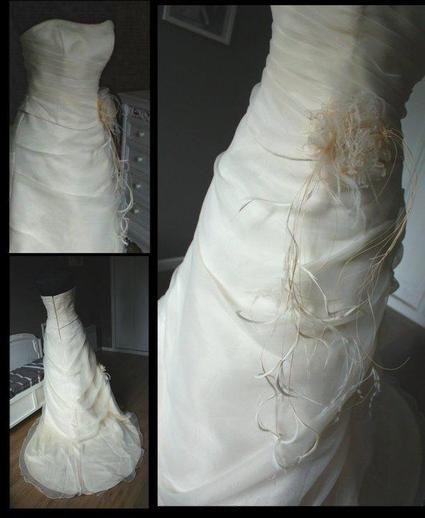 Superbe Robe de mariée bustier Pronuptia en mousseline d'occasion en 2013