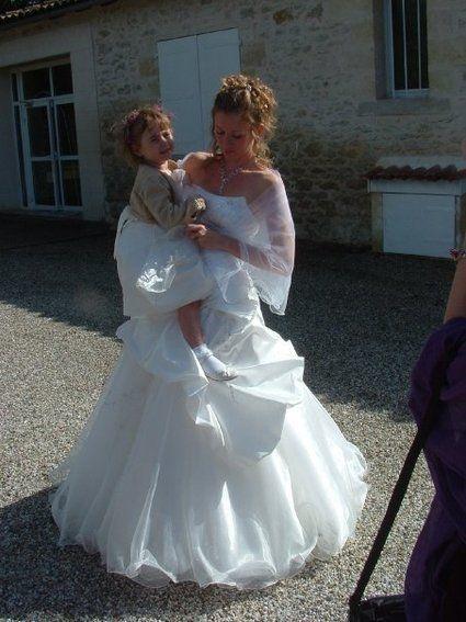Robe de mariée d'occasion Complicité T36 avec jupon