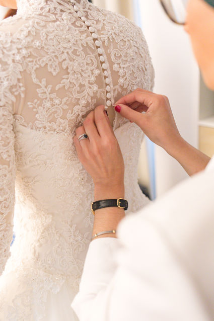 Robe mariage manches longues dentelle - Essonne