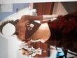 Robe de mariée (bustier + jupe) cappuccino et bordeaux d'occasion