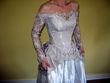 Robe de mariée d'occasion en dentelle gris perle Matrimonia taille 36