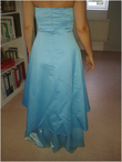 Robe bleue dessous style organza - Occasion du Mariage