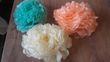 Pompon/ Fleurs en paier de soie décoration mariage - Occasion du Mariage