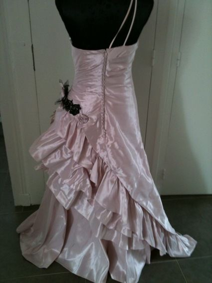 Robe de Mariée coloris vieux rose d'occasion T36/38
