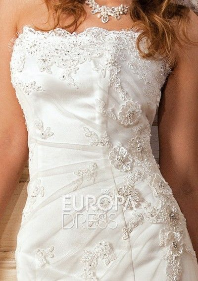 Magnifique Robe de mariée d'occasion de marque Nalejo T38-40 avec traîne