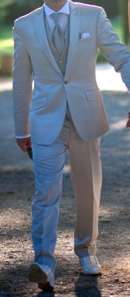 Ensemble homme custume italien de marié gris + chaussures - Bouches du Rhône