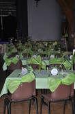 Gros noeuds verts et gris en décoration de mariage 2012 - Occasion du Mariage