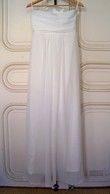 Très belle Robe de mariée longue en mousseline d'occasion