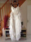 Robe de mariée pas cher courte devant, long derrère - Occasion du Mariage