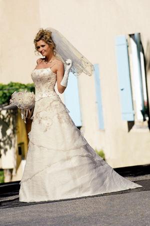 Robe de mariée Elena de chez Point Mariage - jupe + bustier - Occasion du Mariage