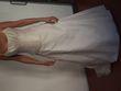 Robe de mariée d'occasion avec bustier en soie et jupon
