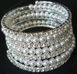 Bracelet en perle et strass - Occasion du Mariage