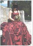 robe de mariée T 38 bordeaux - Occasion du Mariage