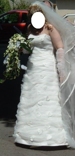 Robe de mariée bustier Pronuptia + voile + jupon de mariage