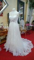 Robe de mariée de créateur d'occasion mais comme neuve