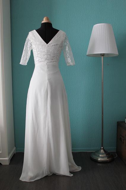 robe de mari e mousseline ivoire t 38 gironde. Black Bedroom Furniture Sets. Home Design Ideas