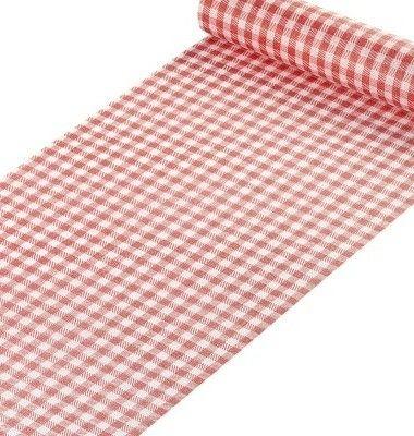 lot chemins de table vichy rouge - Rhône