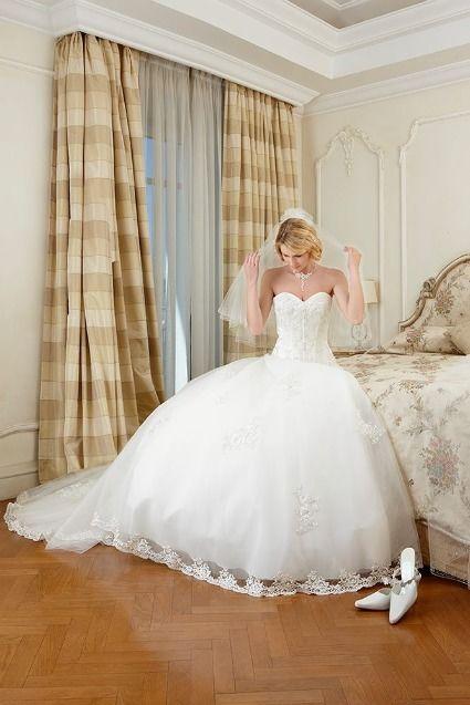 Magnifique robe de mariée de la marque Lady Pearl acheter chez Complicité