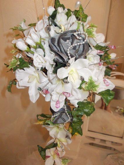 Bouquet de mariee vintage shabby chic