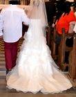 robe mariée ivoire bustier+voile plumes - Occasion du Mariage