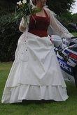 Robe de mariée Bordeaux/Ivoire T50 - Occasion du Mariage