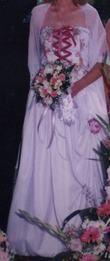 Robe de mariée d'occasion avec bustier et jupe pas cher 2012 - Occasion du mariage