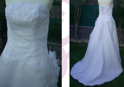Robe de mariée pas cher une pièce brodé perlé 2012 - Occasion du mariage