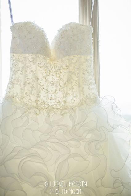 Robe de mariée type princesse taille 38 d'occasion