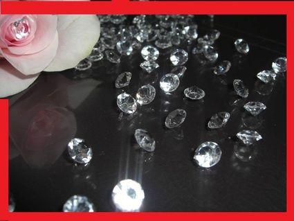 Diamants décoration table mariage - Occasion du Mariage