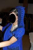Très jolie robe indienne bleue nuit perlée taille 36 - Occasion du Mariage