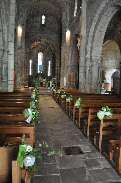 16 gros noeuds verts et gris mélangés pour décoration bancs d'église - Occasion du Mariage