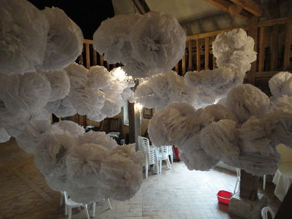 lot de pompons en papier de soie en d coration de mariage pas cher en 2013. Black Bedroom Furniture Sets. Home Design Ideas