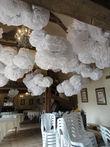 Beau lot de pompons en papier de soie - Occasion du Mariage