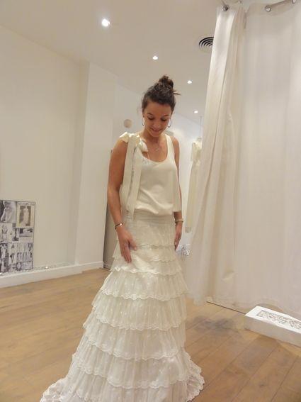 Robe de mariée Delphine Manivet modèle Angus sur mesure doccasion