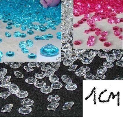 Décoration de marige pas cher, Lot de 100 diamants - Occasion du mariage