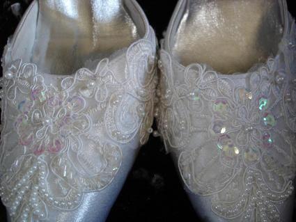 Chaussures de mariée pas cher, blanches neuves T41 2012 - Occasion du mariage
